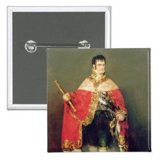 Portrait of Ferdinand VII  1814 Pinback Button