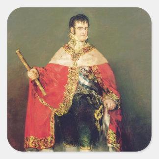Portrait of Ferdinand VII  1814 Square Sticker