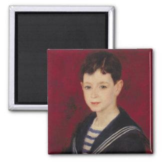 Portrait of Fernand Halphen  1880 2 Inch Square Magnet