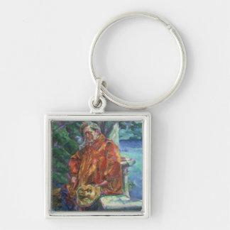 Portrait of Ferruccio Busoni (1866-1924) 1916 (oil Keychain