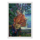Portrait of Ferruccio Busoni (1866-1924) 1916 (oil Poster
