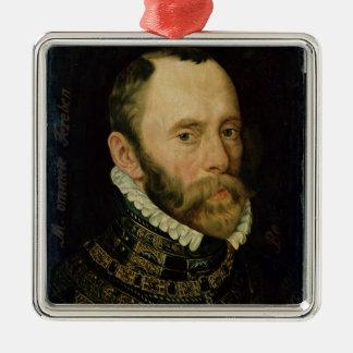Portrait of Filips van Montmorency Square Metal Christmas Ornament