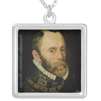 Portrait of Filips van Montmorency Square Pendant Necklace