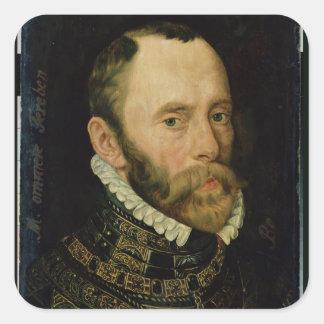 Portrait of Filips van Montmorency Square Sticker
