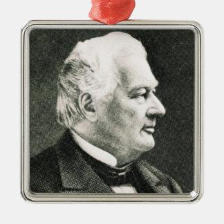 Portrait of Fillmore Millard Square Metal Christmas Ornament