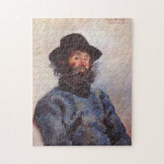 Portrait of Fisherman at Belle-Île Monet Fine Art Jigsaw Puzzle