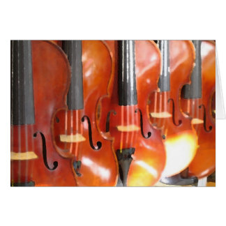 Portrait of Five Violins Card