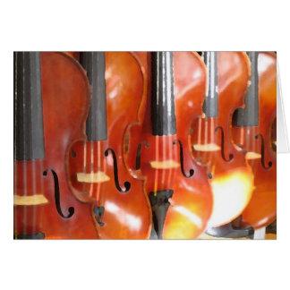 Portrait of Five Violins Greeting Card