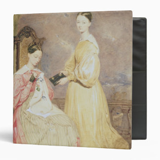 Portrait of Florence Nightingale  and her 3 Ring Binder