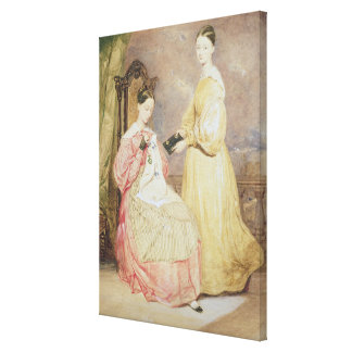 Portrait of Florence Nightingale  and her Canvas Print