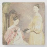 Portrait of Florence Nightingale  and her Stone Beverage Coaster
