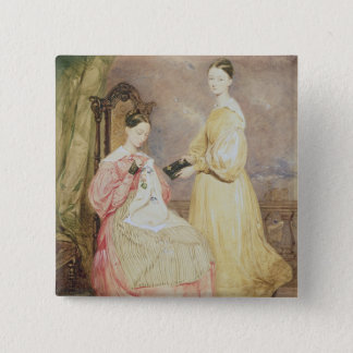 Portrait of Florence Nightingale  and her Pinback Button