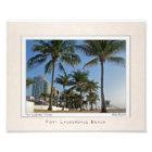 Portrait of Fort Lauderdale Beach Photo Print