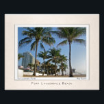 "Portrait of Fort Lauderdale Beach Photo Print<br><div class=""desc"">A view along the sands of Fort Lauderdale Beach,  as seen by fine art photographer Andy Royston</div>"