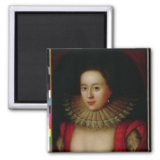 Portrait of Frances Howard  Countess of Somerset 2 Inch Square Magnet