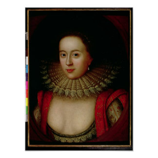 Portrait of Frances Howard  Countess of Somerset Poster