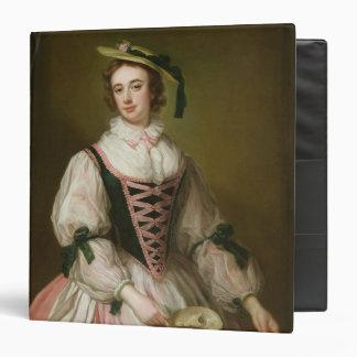 Portrait of Frances Macartney, c.1745 3 Ring Binder