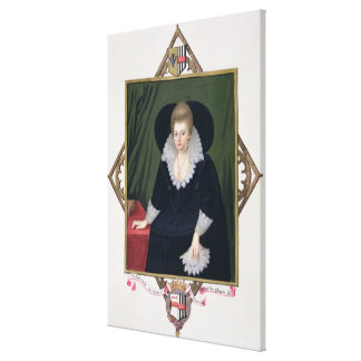 Portrait of Frances Walsingham, Countess of Essex Gallery Wrap Canvas