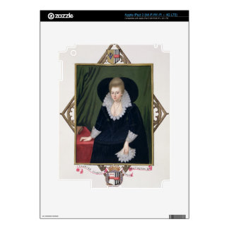 Portrait of Frances Walsingham, Countess of Essex Decals For iPad 3