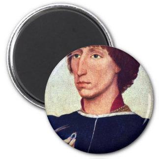 Portrait Of Francesco D Este By Weyden Rogier Fridge Magnet