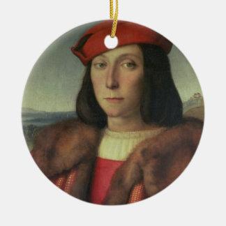 Portrait of Francesco della Rovere, Duke of Urbino Ceramic Ornament