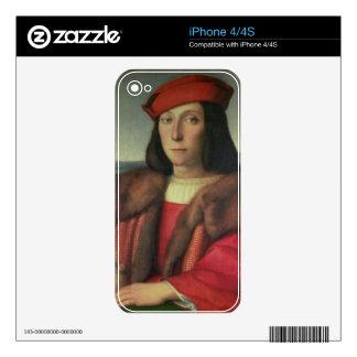 Portrait of Francesco della Rovere, Duke of Urbino Skins For iPhone 4