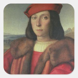Portrait of Francesco della Rovere, Duke of Urbino Square Sticker