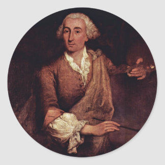 Portrait Of Francesco Guardi. By Longhi Pietro Sticker