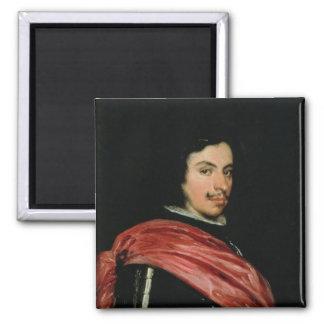 Portrait of Francesco I d'Este  1639 2 Inch Square Magnet