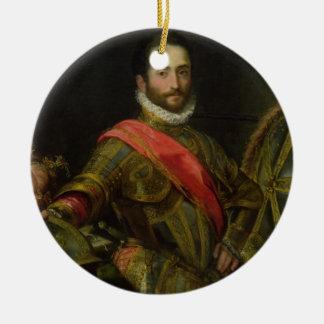 Portrait of Francesco II della Rovere, c.1572 (oil Ceramic Ornament
