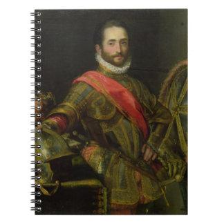 Portrait of Francesco II della Rovere, c.1572 (oil Notebook