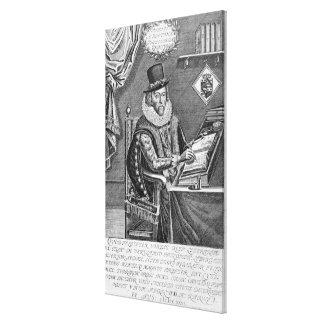 Portrait of Francis Bacon (1561-1626) Viscount of Canvas Print