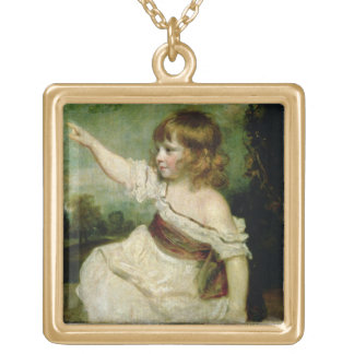 Portrait of Francis George Hare, oldest son of Fra Gold Plated Necklace