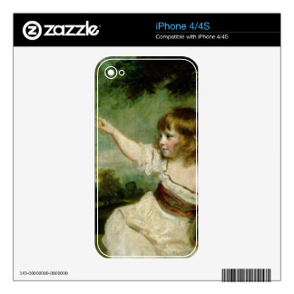 Portrait of Francis George Hare, oldest son of Fra iPhone 4S Decal