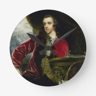 Portrait of Francis Russell, the Marquess of Tavis Round Clock
