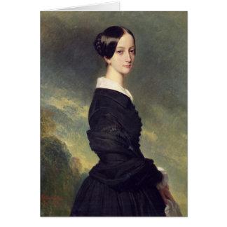Portrait of Francisca Caroline de Braganca  1844 Card