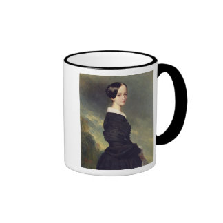 Portrait of Francisca Caroline de Braganca  1844 Ringer Coffee Mug