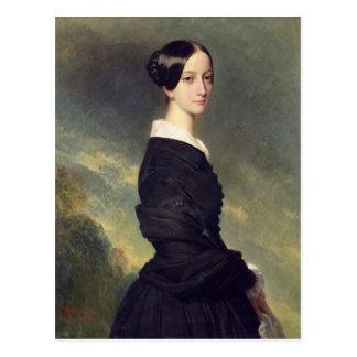Portrait of Francisca Caroline de Braganca  1844 Postcard