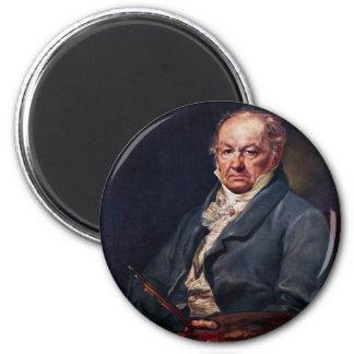Portrait Of Francisco De Goya By Vicente Lã³Pez 2 Inch Round Magnet
