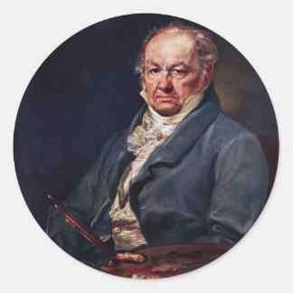 Portrait Of Francisco De Goya By Vicente Lã³Pez Stickers