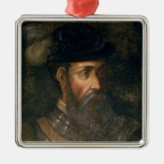 Portrait of Francisco Pizarro (c.1478-1541) Spanis Metal Ornament