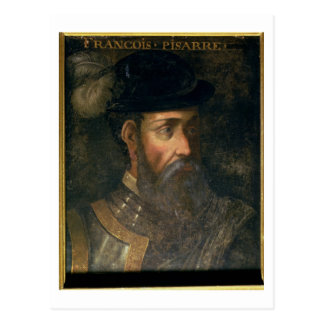 Portrait of Francisco Pizarro (c.1478-1541) Spanis Postcard