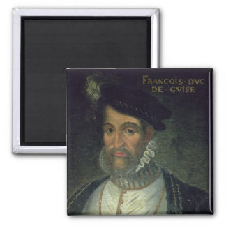 Portrait of Francois, 2nd Duke Guise (1519-63) Fre 2 Inch Square Magnet