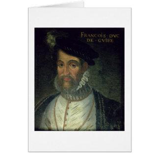 Portrait of Francois, 2nd Duke Guise (1519-63) Fre Card
