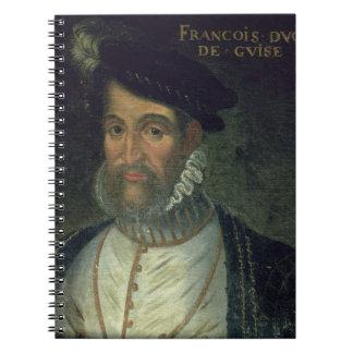 Portrait of Francois, 2nd Duke Guise (1519-63) Fre Notebook