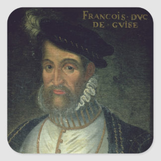 Portrait of Francois, 2nd Duke Guise (1519-63) Fre Square Sticker