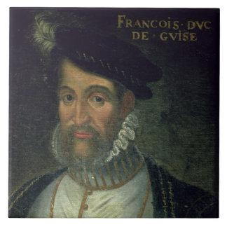 Portrait of Francois, 2nd Duke Guise (1519-63) Fre Large Square Tile