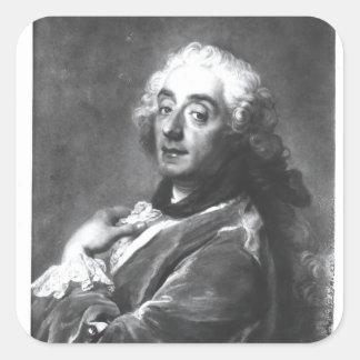 Portrait of Francois Boucher  1741 Square Sticker