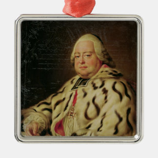 Portrait of Francois-Camille de Lorraine  c.1769 Square Metal Christmas Ornament