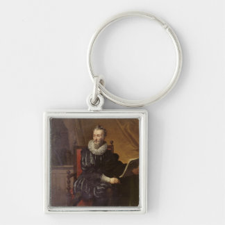 Portrait of Francois de Malherbe  1822 Silver-Colored Square Keychain